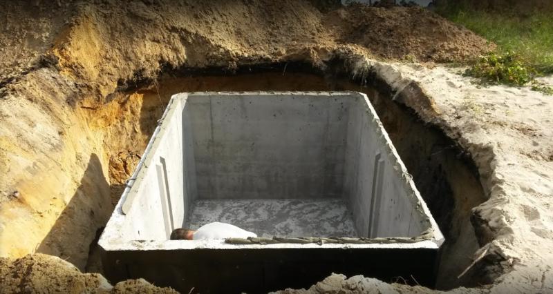 Certifikovaná betonová žumpa