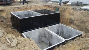 vložení do výkopu Vícekomorové: Betonové žumpa - Betonové jímky